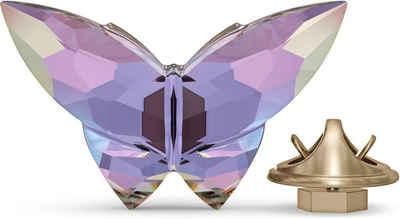 Swarovski Dekoobjekt »Jungle Beats Schmetterling Magnet, violett, klein, 5572153« (1 Stück), Swarovski® Kristall