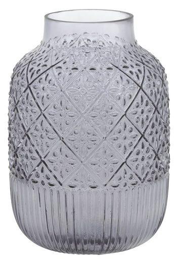 my home Dekovase, aus Glas, mit strukturierter Oberfläche, Höhe ca. 29 cm
