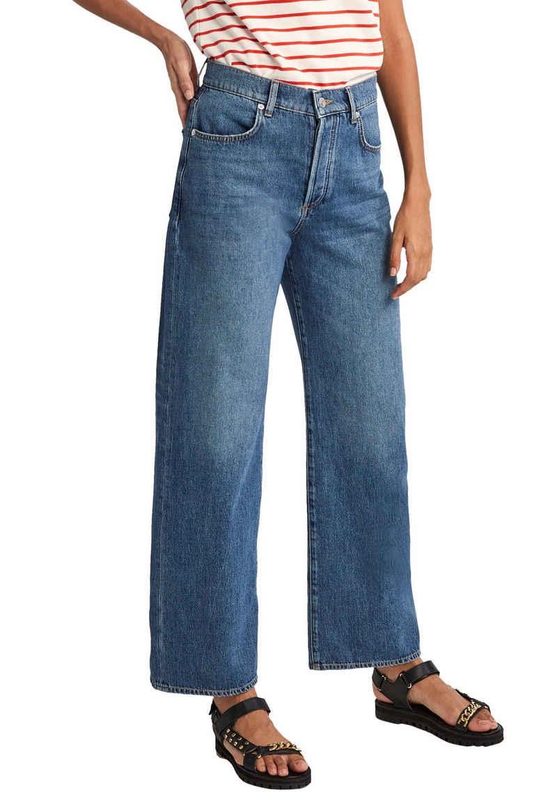 Comma High-waist-Jeans aus Baumwolle ohne Elasthan