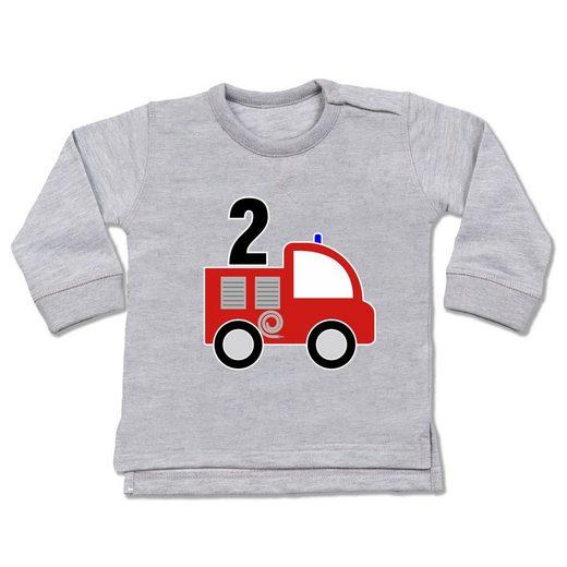 Shirtracer Sweatshirt »2. Geburtstag Feuerwehr - Baby Pullover«