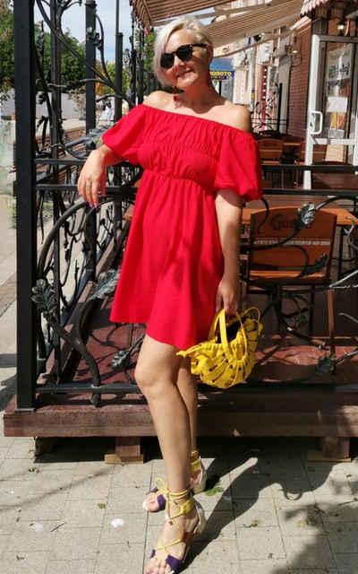 LAPA One-Shoulder-Kleid »LAPA One-Shoulder-Kleid, Kleid mit Puffärmeln, Sexy Kleid«