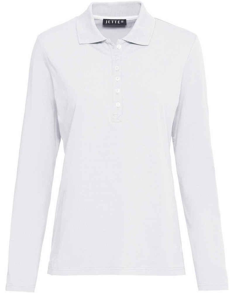 JETTE Poloshirt »Langarm-Poloshirt«