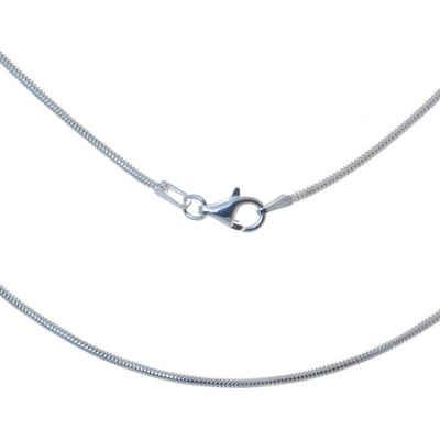 Bella Carina Silberkette »Silberkette Schlangenkette 1,3 mm 925 Silber«, 925 Sterling Silber