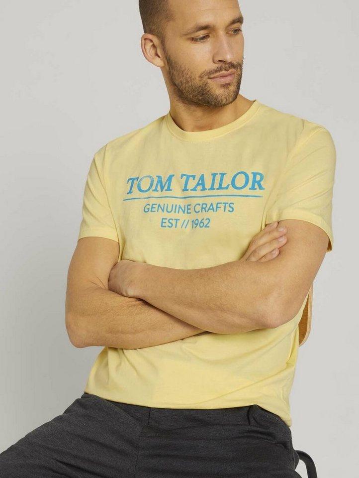 tom tailor -  T-Shirt »T-Shirt mit Bio-Baumwolle«