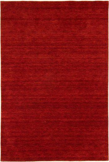 Wollteppich »GABBEH FEIN UNI«, morgenland, rechteckig, Höhe 18 mm, reine Schurwolle, uni, Wohnzimmer