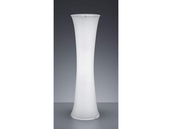 TRIO LED Stehlampe, schöne kleine Steh-Leuchte Zylinder-form 2 mehr-flammig rund mit Stoff-Lampen-Schirm