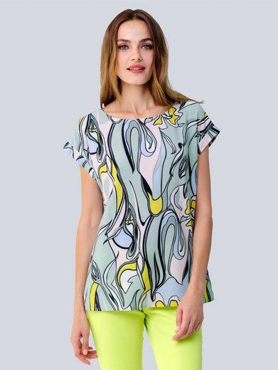Alba Moda Bluse mit Druckdessin