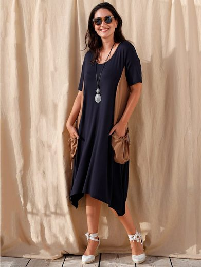 MIAMODA Jerseykleid mit modischen Taschen seitlich