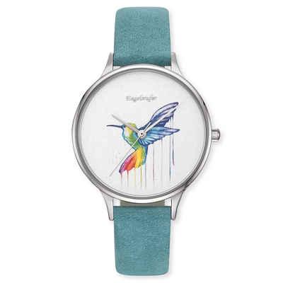 Engelsrufer Quarzuhr »Uhr Paradise Colibri multicolor Edelstahl«