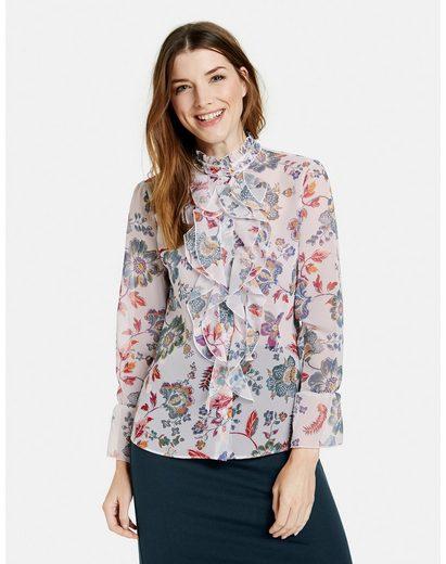 Taifun Langarmbluse »Rüschenbluse mit floralem Print« Bluse