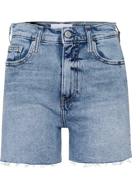 Hosen - Calvin Klein Jeans Shorts Offene, gefranste Beinabschlüsse ›  - Onlineshop OTTO