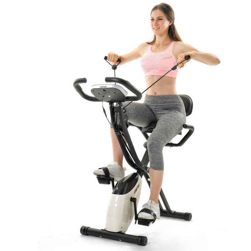 Merax Heimtrainer »Nesoi«, 3-in-1 X-bike Fitnessgeräte mit Expanderbändern & Handpulssensoren, mit 10 Widerstandsstufen