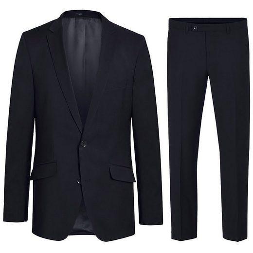 Paul Malone Anzug »Herren Anzug modern Businessanzug regular fit« (2-tlg) 100% Schurwolle blau HA18