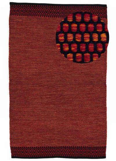 Teppich »Kelim Mia«, carpetfine, rechteckig, Höhe 6 mm, Baumwolle Wendeteppich, Wohnzimmer