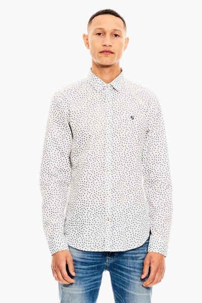 Garcia Langarmhemd »X01282 - 50-white« 100% Baumwolle