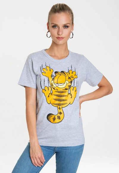 LOGOSHIRT T-Shirt »Garfield – Scratches« mit Print mit lizenziertem Originaldesign