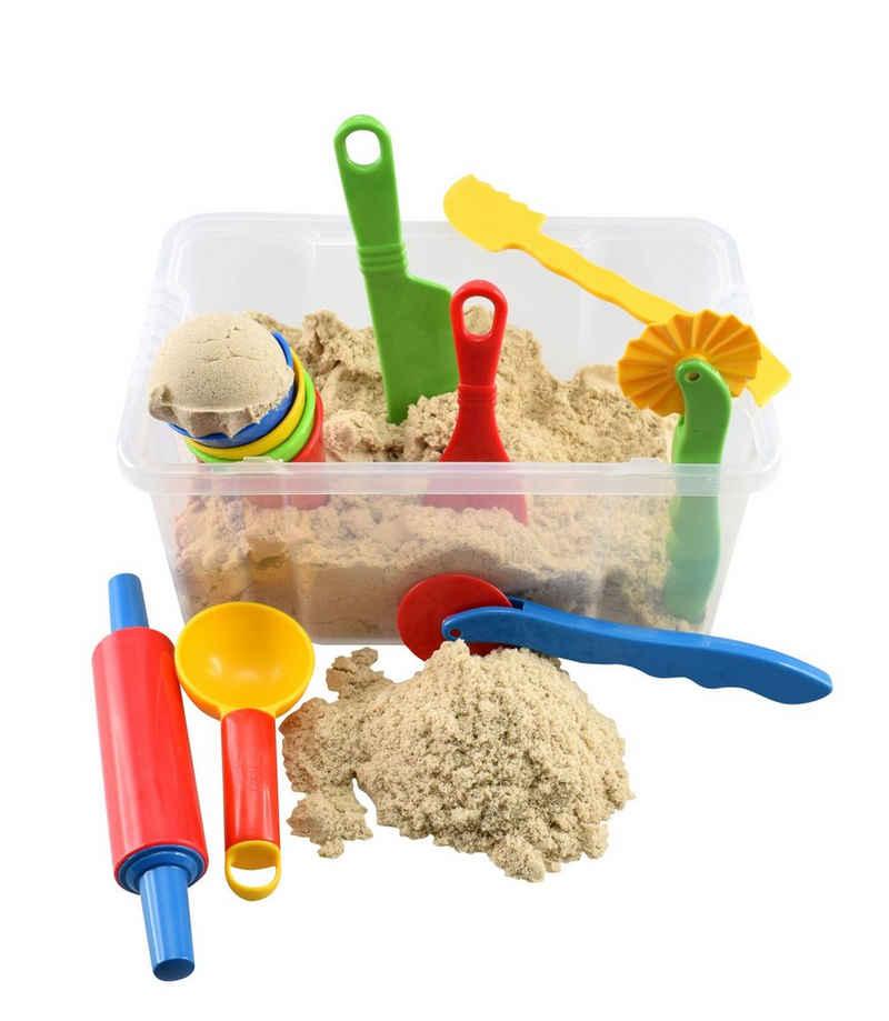 CHiLA Sandform-Set »Spielsand Set«, (Schatzkiste, 13-tlg), in praktischer Transportbox