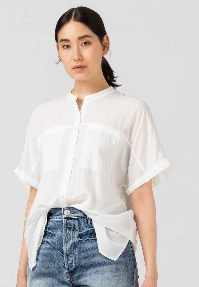 HALLHUBER Shirtbluse »geschnittene Oversize-Bluse«
