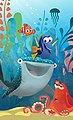 Komar Fototapete »Finding Dory Aquarell«, glatt, mehrfarbig, Comic, (Packung), Bild 1