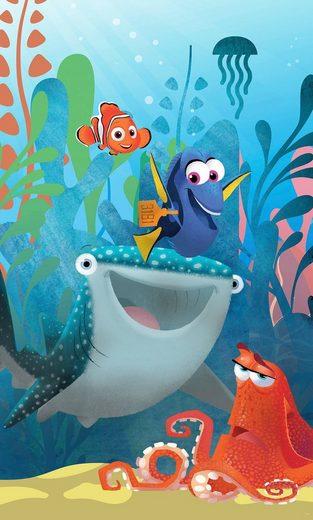Komar Fototapete »Finding Dory Aquarell«, glatt, mehrfarbig, Comic, (Packung)