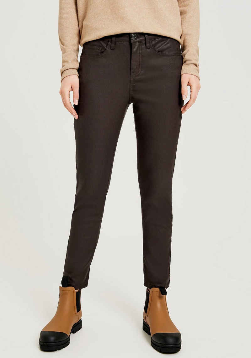 OPUS 5-Pocket-Jeans »Emily zip« mit Zipper am Saum
