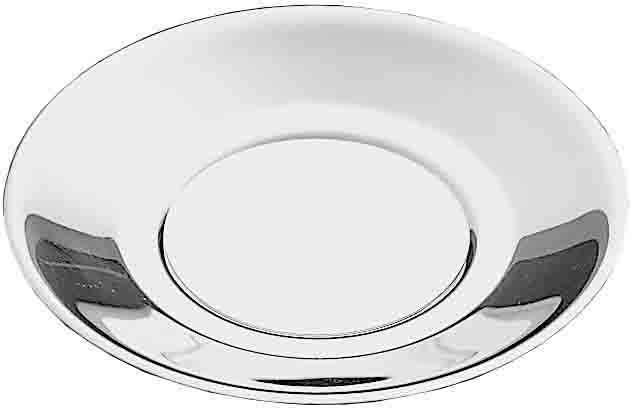 PINTINOX Kuchenteller »Gelateria Professional«, (4 Stück), Edelstahl, spülmaschinengeeignet, bordierter Rand, Ø 13 cm