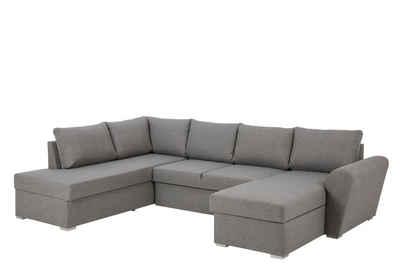 ebuy24 Sofa »Stan Schlafsofa Chaiselong rechts, lichtgrau.«