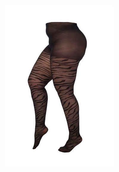 Pamela Mann Strumpfhose (1 Stück) mit angesagtem Zebradruck