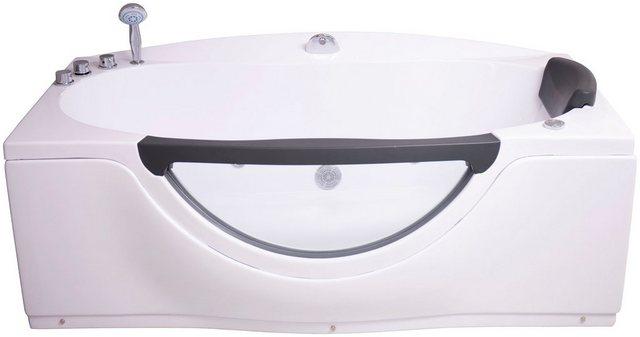 Badewannen und Whirlpools - Sanotechnik Whirlpool Badewanne »Acryl«, (4 tlg), 170 90 68 cm, mit Fenster, Acryl  - Onlineshop OTTO