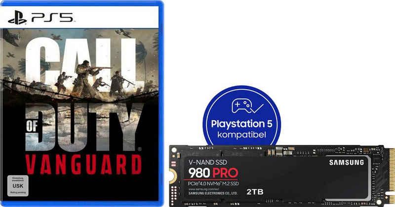 Samsung »980 PRO SSD 2TB + Call of Duty: Vanguard PS5« interne SSD (2 TB) 7000 MB/S Lesegeschwindigkeit, 5100 MB/S Schreibgeschwindigkeit)