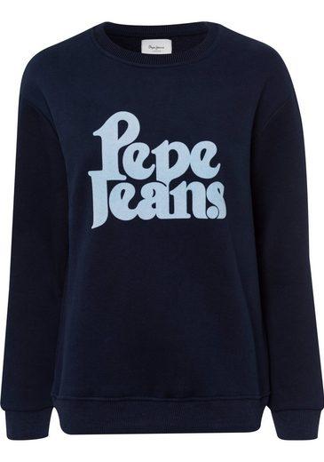 Pepe Jeans Sweatshirt »CARMENRO« mit Markenschriftzug auf der Brust