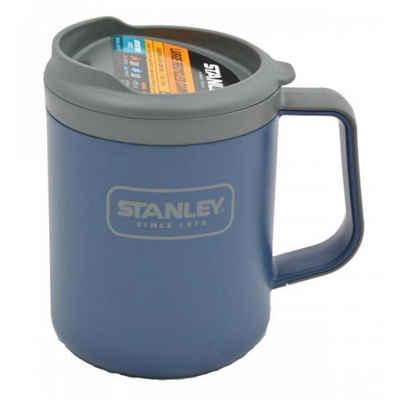 STANLEY Coffee-to-go-Becher »Becher Stanley navy blau 473 ml neu«, 100% Recyclingmaterial, mit eCycle® recycelten und recycelbaren Kunststoff BPA-frei