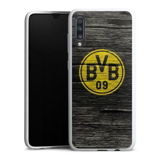 DeinDesign Handyhülle »BVB Holzoptik« Samsung Galaxy A70, Hülle Borussia Dortmund BVB Holzoptik
