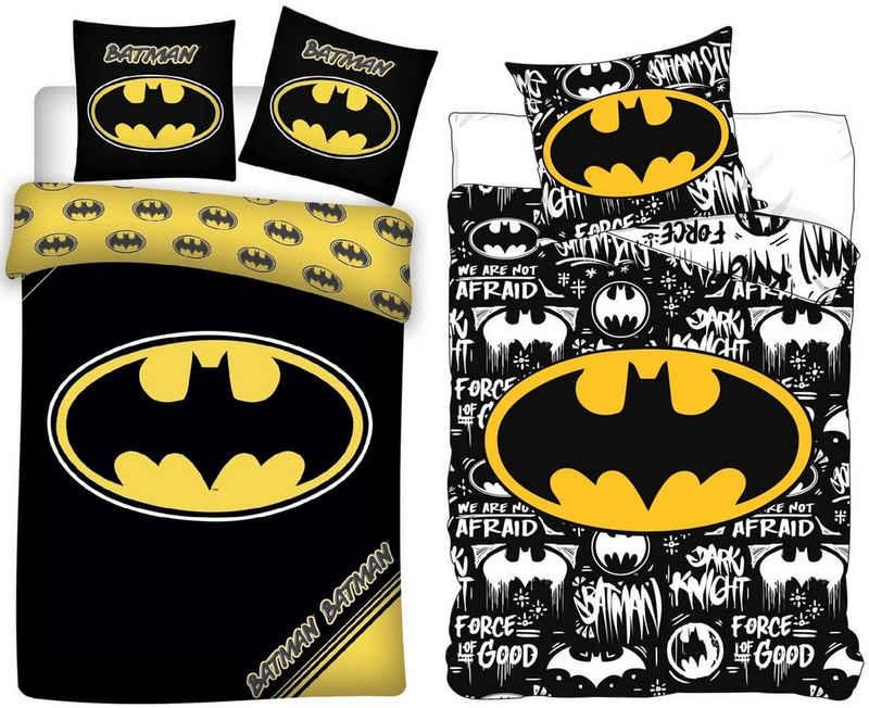 Kinderbettwäsche »Batman - 2 x Wende-Bettwäsche-Set, 135x200 & 80x80 cm«, Batman, 100% Baumwolle