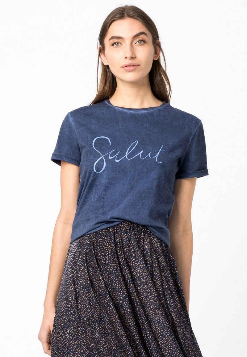 HALLHUBER T-Shirt »mit Cold-Dye-Waschung«