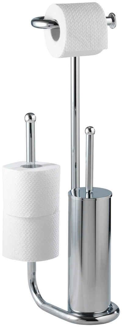 WC-Garnitur »Universalo«, WENKO, integrierter Toilettenpapierhalter und WC-Bürstenhalter