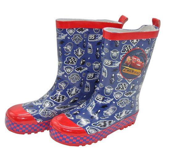 Disney Gummistiefel Kinder Cars Regenstiefel Schlupfstiefel Stiefel Regen Schuhe Navy