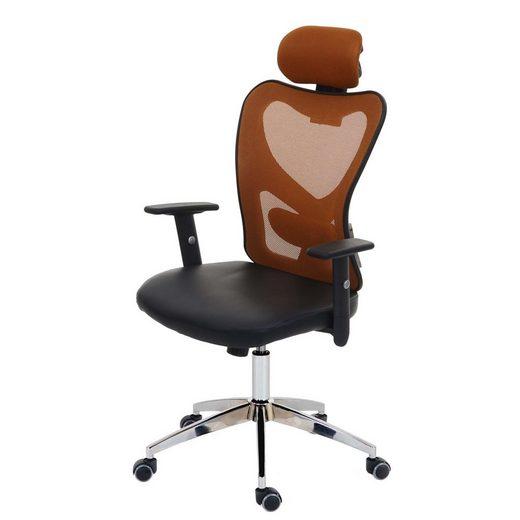 MCW Schreibtischstuhl »Pamplona«, Kopfstütze stufenlos höhenverstellbar, Ergonomischer Sitzkomfort, Höhenverstellbare Kopfstütze und Armlehnen, Flexible Lendenwirbelpolsterung
