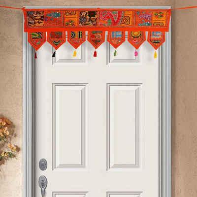 Türvorhang »Indischer Patchwork Toran 102x45 cm (BxH) handbestickter Türvorhang & Fenstervorhang in Boho-Stil«, Casa Moro, 3-Punkt-Aufhängung (1 Stück), MA6304