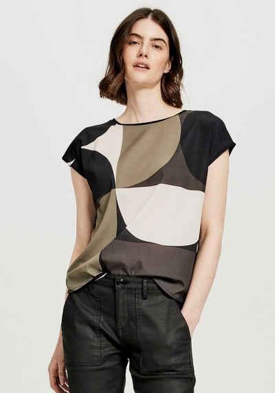OPUS T-Shirt »Salfi print« mit abstraktem Muster