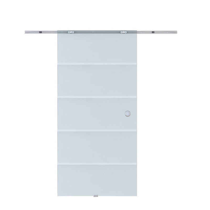 HOMCOM Schiebetür »Glasschiebetür mit Streifen«
