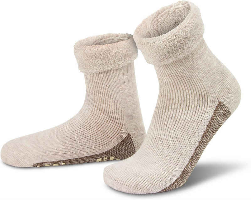 normani ABS-Socken »Alpaka-Wollsocken mit ABS-Druck« (1 Paar) hochwertige Alpaka-Wolle