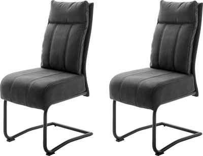MCA furniture Freischwinger »Azul« (Set, 2 Stück), mit Taschenfederkern, Stuhl bis 120 Kg belastbar