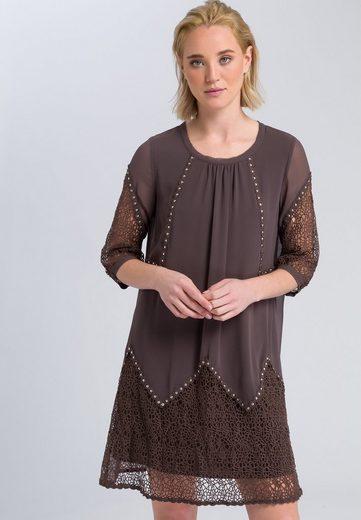MARC AUREL A-Linien-Kleid mit Lochspitze
