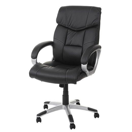 MCW Schreibtischstuhl »MCW-A71«, Wippmechanik auf das Körpergewicht einstellbar, Maximale Belastbarkeit 120 kg, gepolsterte Armlehnen