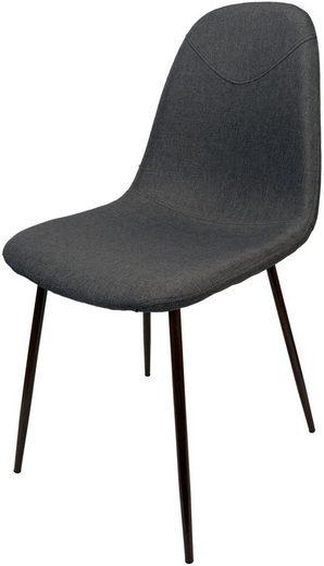dynamic24 Esszimmerstuhl, Schalenstuhl Stoff Küche Esszimmer Wohnzimmer Polster Stuhl