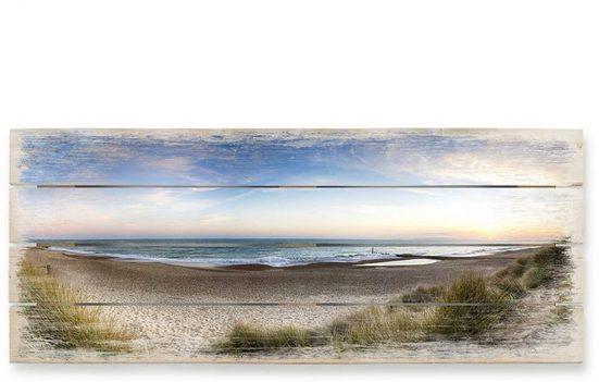 Wall-Art Holzbild »Strand Holzbild Küchen Wandbild«, (1 Stück)