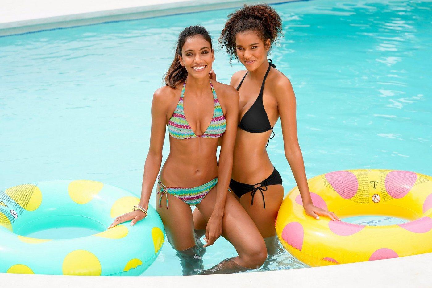 Bademode - Homeboy Triangel Bikini (2 St) im Doppelpack › schwarz  - Onlineshop OTTO