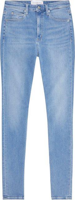 Hosen - Calvin Klein Jeans Skinny fit Jeans »HIGH RISE SKINNY« mit CK Logo Monogramm Stickerei Badge ›  - Onlineshop OTTO