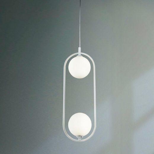click-licht Hängeleuchte »Pendelleuchte Ring in Weiß G9 2-flammig«, Hängeleuchte, Pendellampe, Pendelleuchte